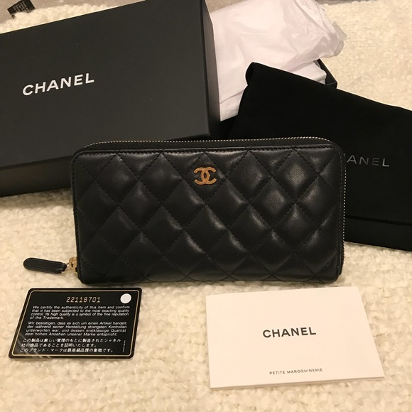 55c4f9643d6bc1 CHANEL Handbags - Chanel Lambskin large zip around wallet